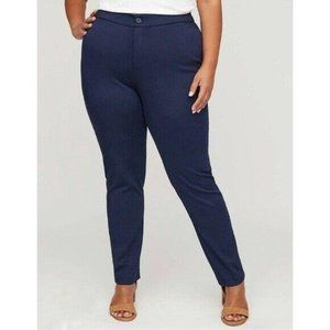 Catherines The Universal Blue Pants Plus Size 28W